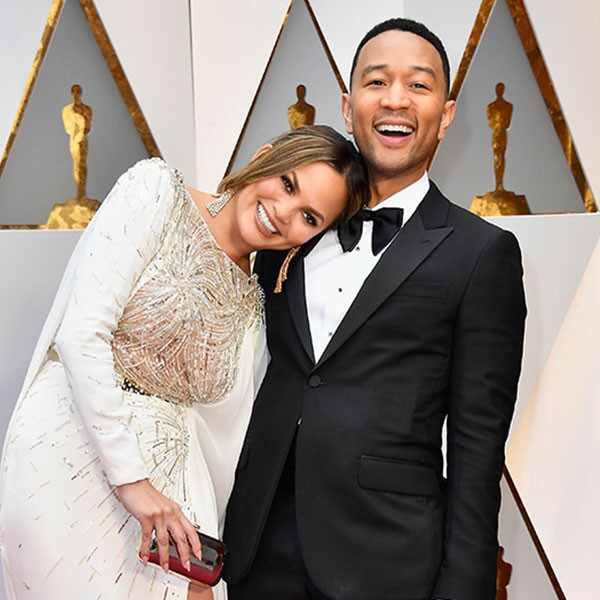 Chrissy Teigen, John Legend, 2017 Oscars, Academy Awards, Couples