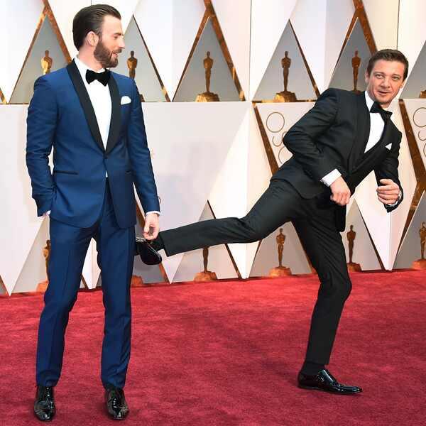 Chris Evans, Jeremy Renner, 2017 Oscars, Academy Awards, Candids