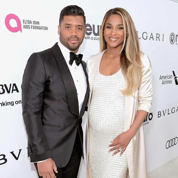 Ciara, Russell Wilson, 2017 Oscars, Elton John After Party
