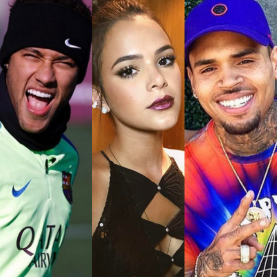Neymar, Bruna Marquezine, Chris Brown
