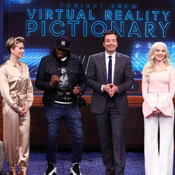 The Tonight Show, Scarlett Johansson, Michael Che, Jimmy Fallon, Dove Cameron