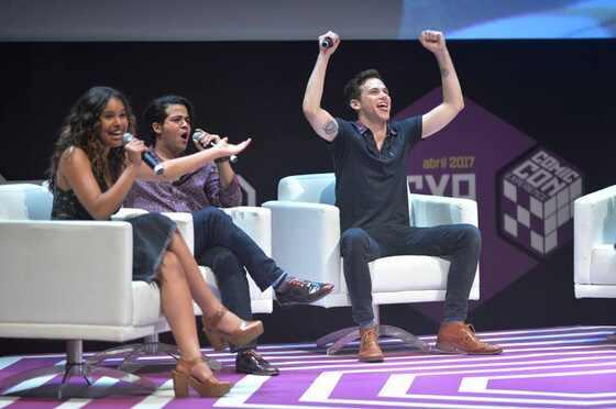 Alisha Boe, Christian Navarro, Brandon Flynn, CCXP 2017 Recife
