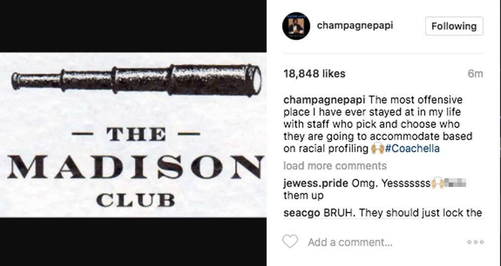 Drake, Instagram, Coachella