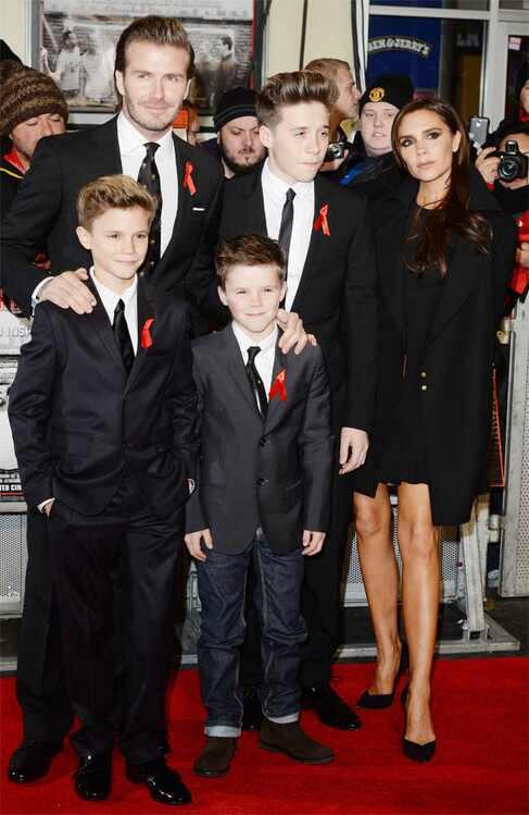 David Beckham, Victoria Beckham, Brooklyn Beckham, Romeo Beckham, Cruz Beckham