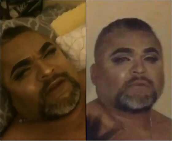 Garota maquia o próprio pai enquanto ele dorme