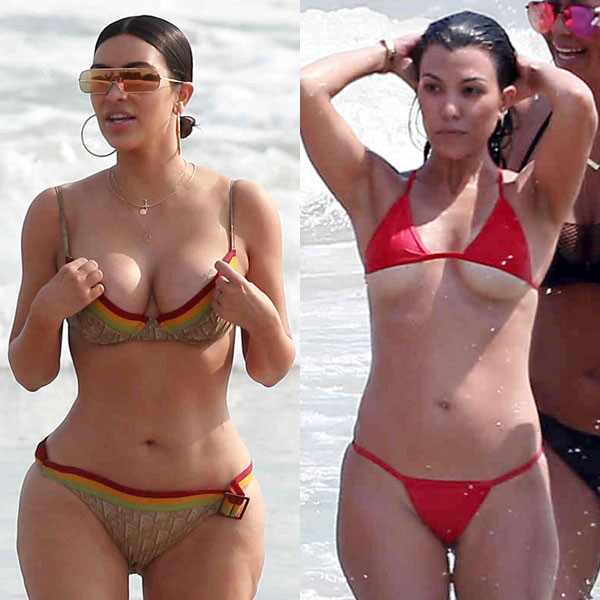 Fotos en la playa al natural desatan ola de críticas — Kim Kardashian