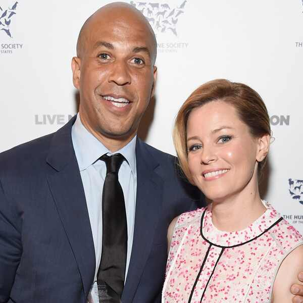 Cory Booker, Elizabeth Banks