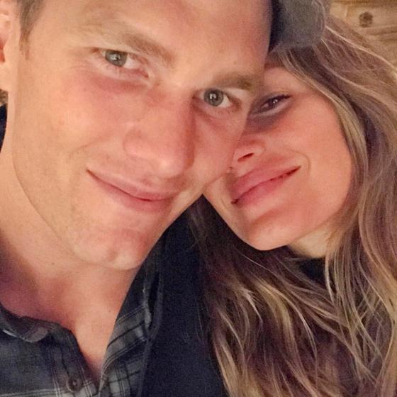 Gisele Bündchen se declara em selfie romântica com Tom Brady
