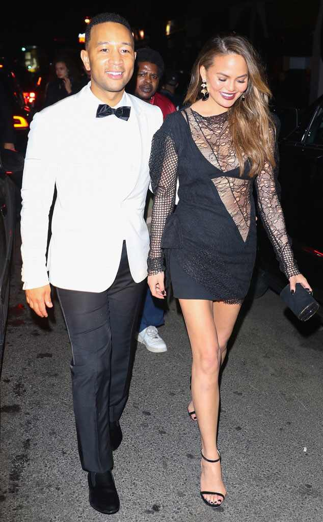 Chrissy Teigen, John Legend, 2017 Met Gala After Party Pics