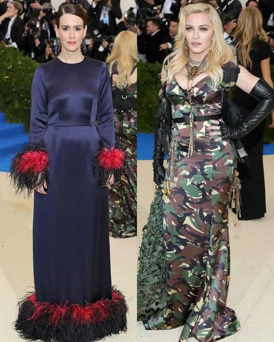 Sarah Paulson, Madonna, MET Gala 2017