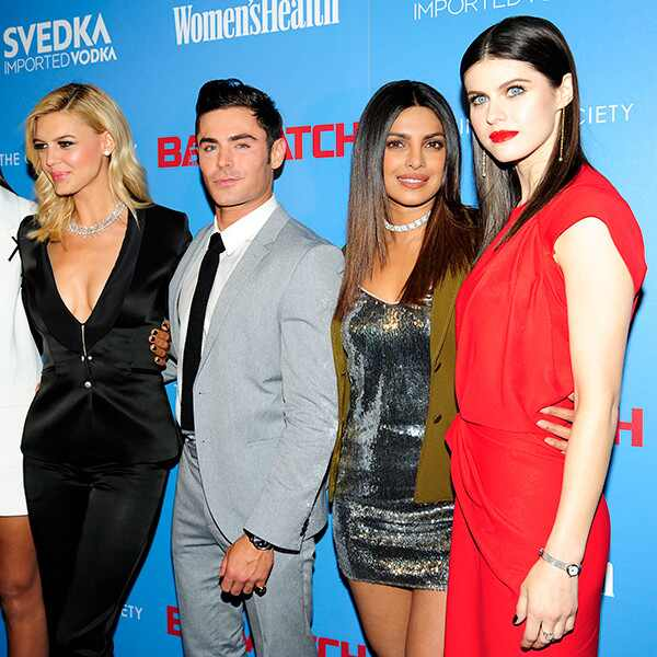 Ilfenesh Hadera, Kelly Rohrbach, Zac Efron, Priyanka Chopra, Alexandra Daddario, Baywatch Screening