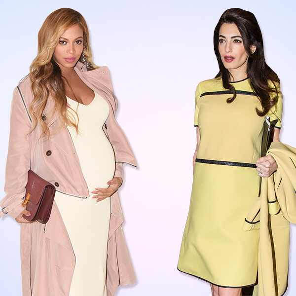 Beyonce, Amal Clooney, Pregnant