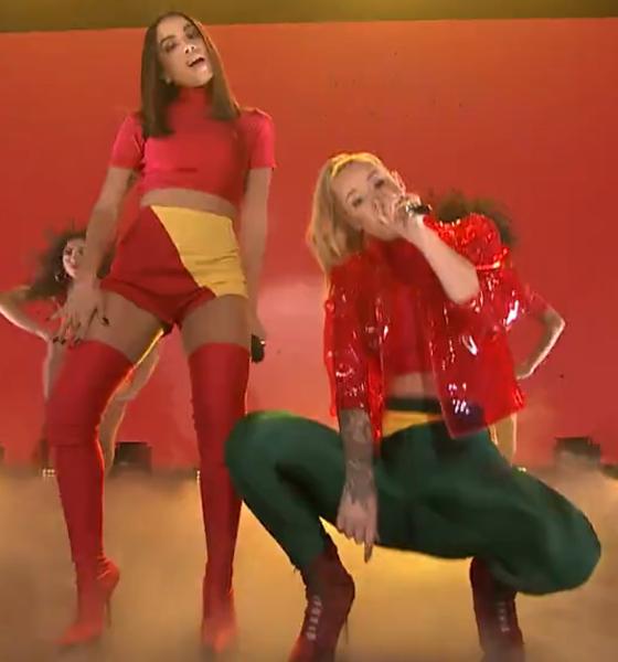 Anitta e Iggy Azalea lacram em performance ao vivo de Switch no The Tonight Show