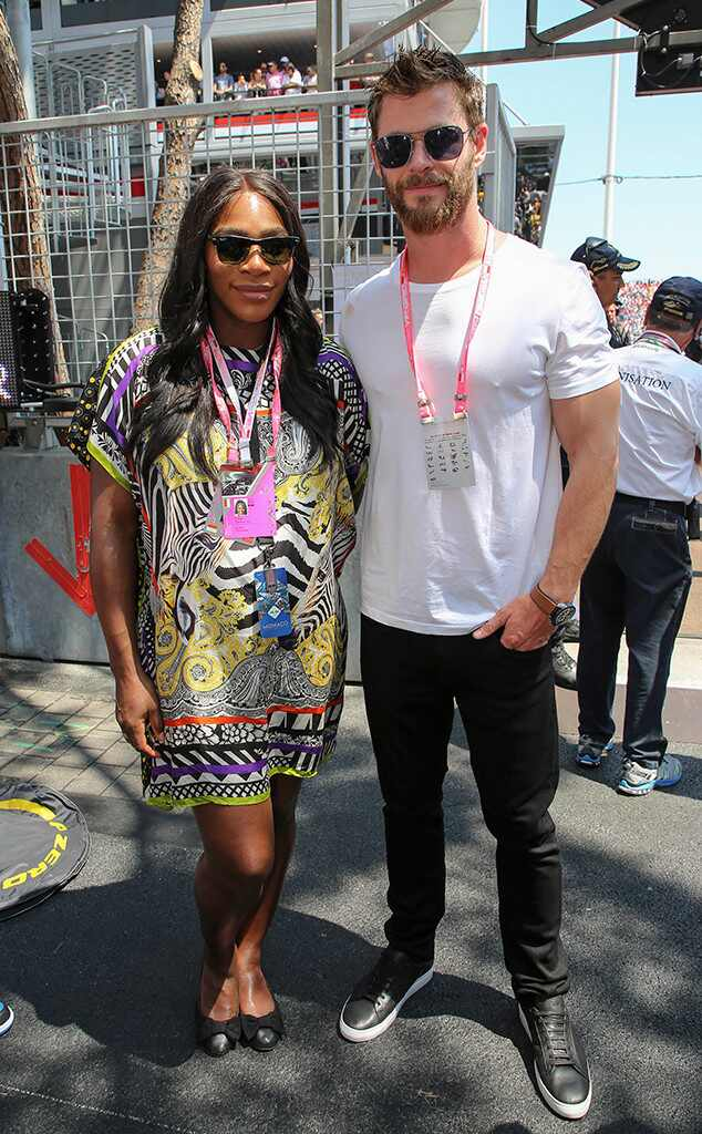 Serena Williams, Chris Hemsworth