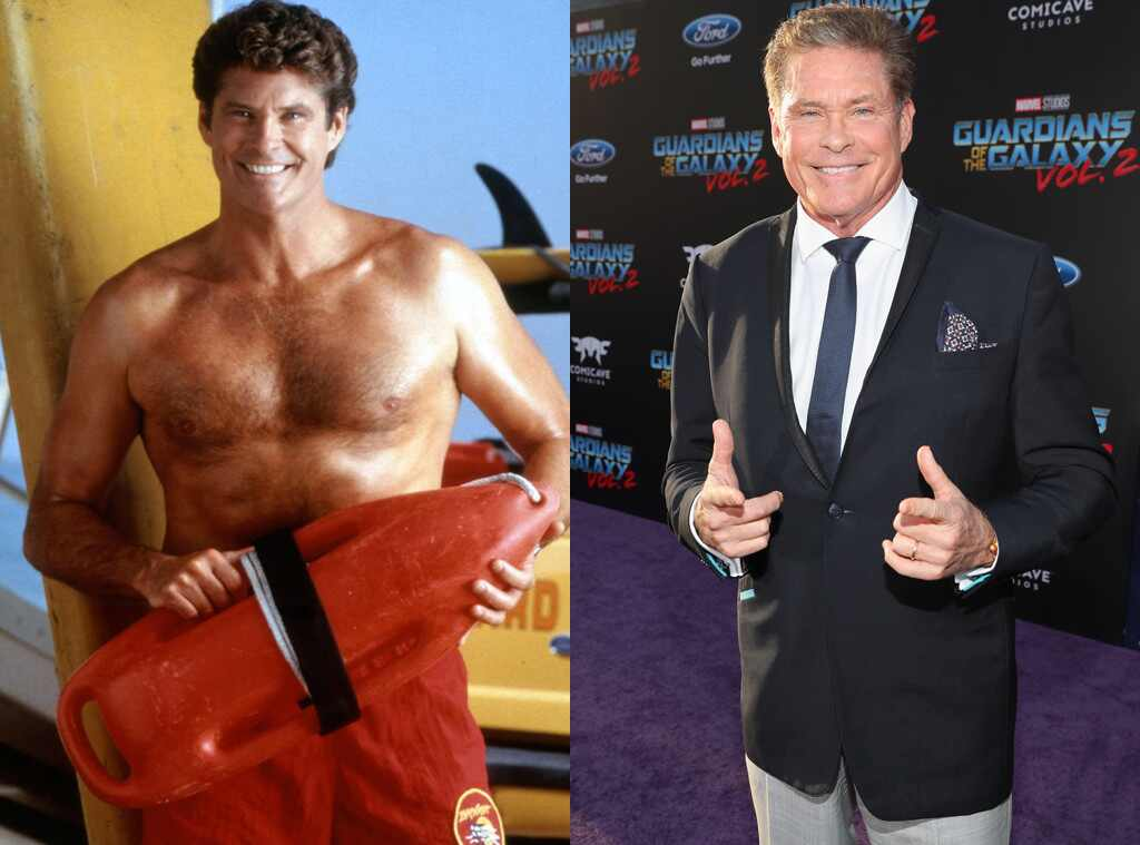 David Hasselhoff, Baywatch Then and Now