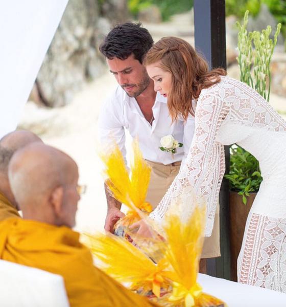 Marina Ruy Barbosa revela benção budista em casamento na Tailândia