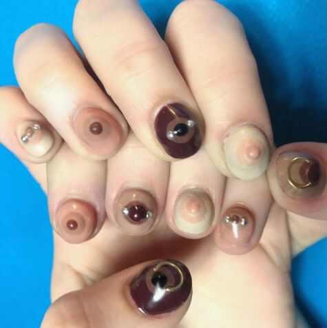 Nail art de mamilos