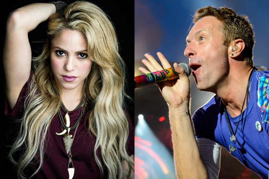 Chris Martin de Coldplay canta canción de Shakira