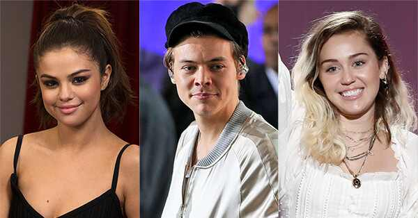 Teen Choice Awards nominees, Selena Gomez, Harry Styles, Miley Cyrus
