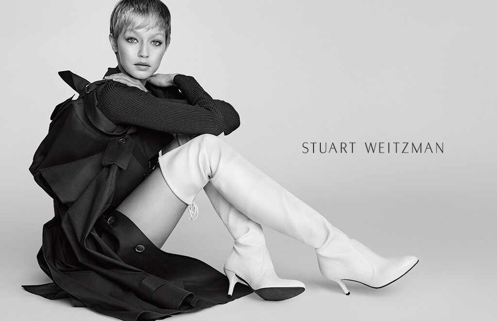 Gigi Hadid, Stuart Weitzman, Ads, Campaign, 2017