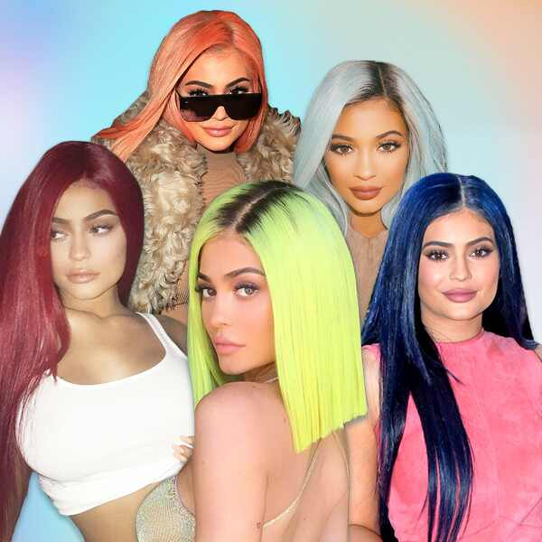 Kylie Jenner, Hair Colors