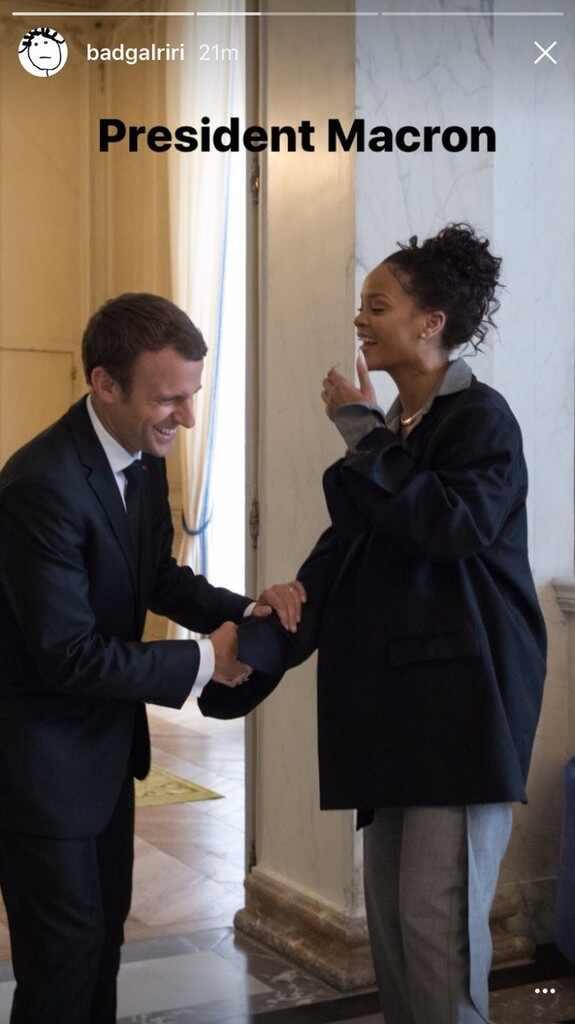 Rihanna, Emmanuel Macron