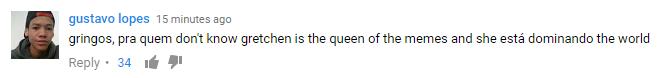 Comentários Gretchen
