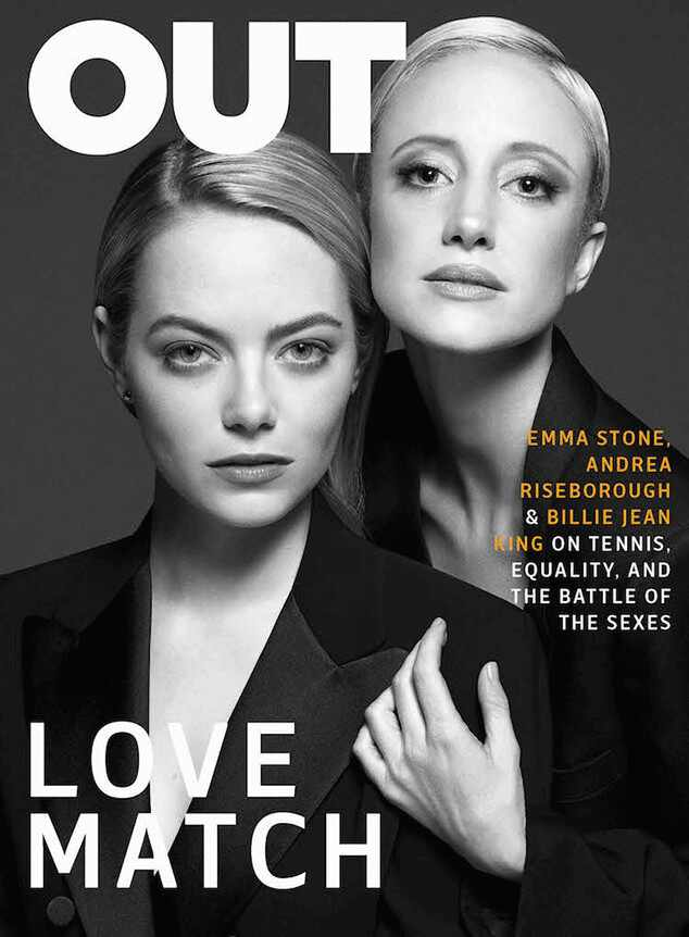 Emma Stone, Andrea Riseborough, OUT Magazine