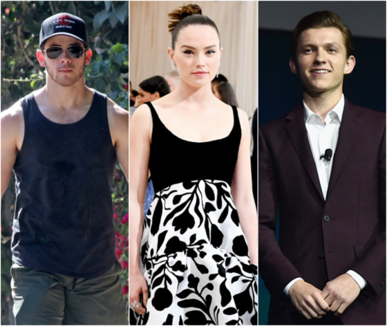 Nick Jonas, Daisy Ridley, Tom Holland