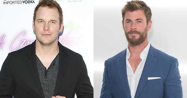 Chris Hemsworth. Foto do site da E! Online que mostra Chris Hemsworth diz que tremeu ao conhecer Chris Pratt