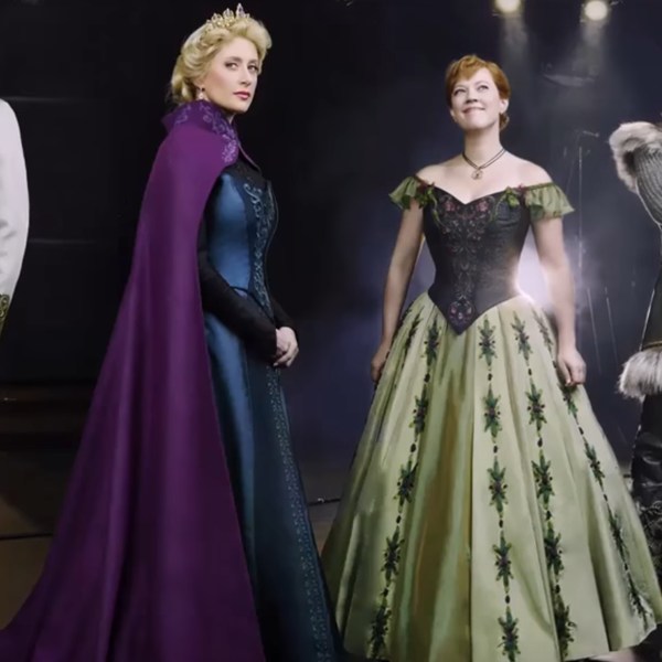 Frozen on Broadway, Patti Murin, Caissie Levy, Jelani Alladin, and John Riddle