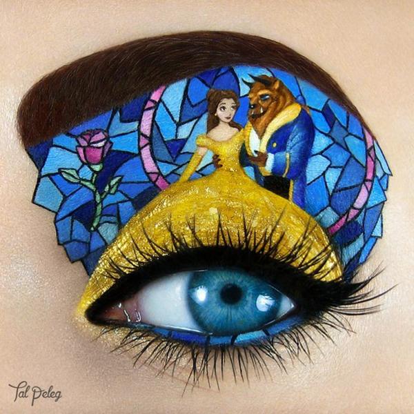 Maquiadora cria make para os olhos com personagens famosos