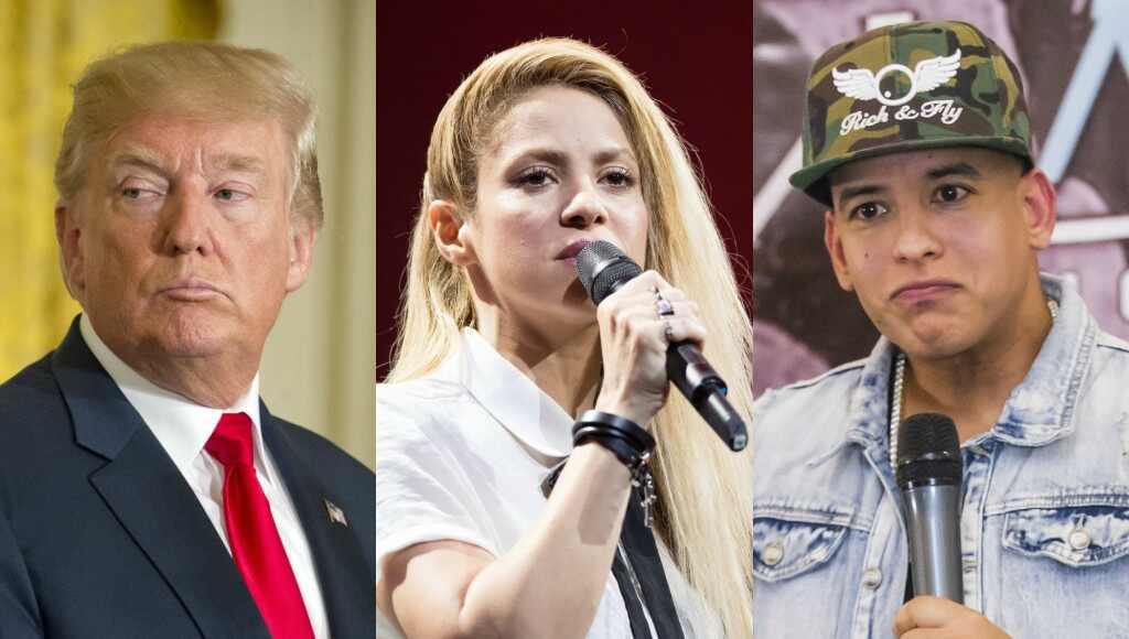 Donald Trump, Shakira, Daddy Yankee