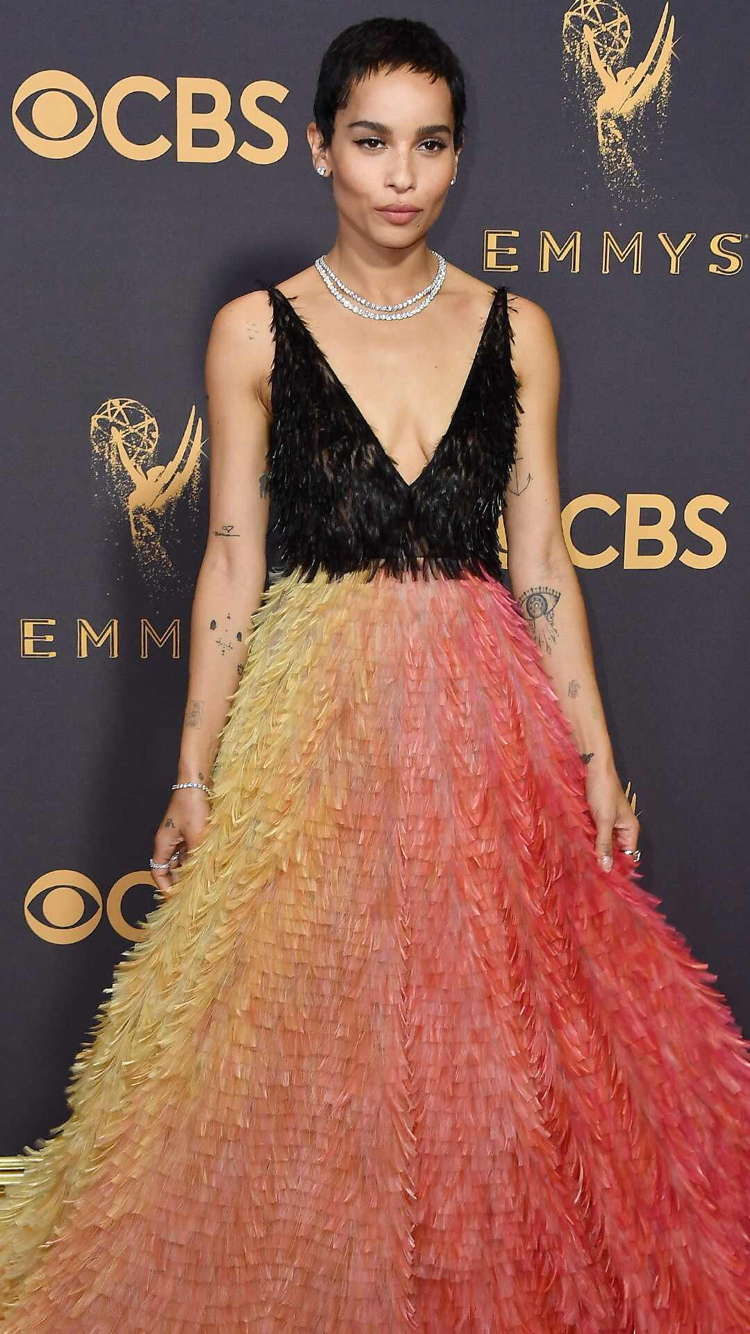 Zoe Kravitz, 2017 Emmy Awards, Arrivals