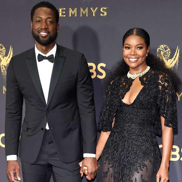 Dwyane Wade, Gabrielle Union, 2017 Emmys, Couples