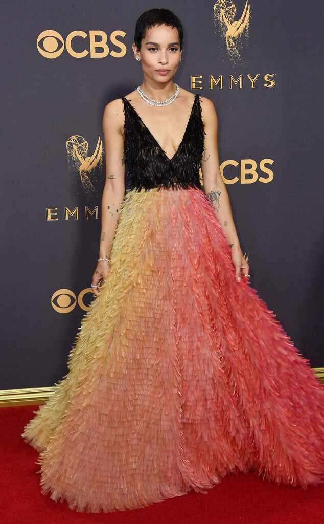 Zoe Kravitz, 2017 Emmy Awards, Arrivals