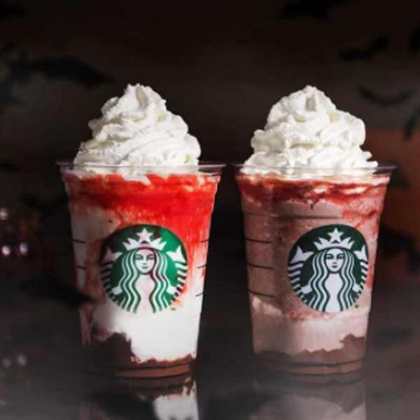 Starbucks, Vampire Frappuccino, Halloween