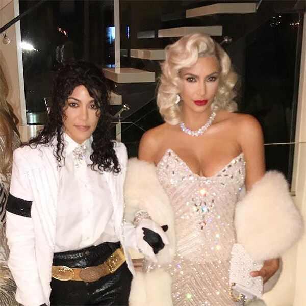 Kim Kardashian, Kourtney Kardashian, Halloween, 2017, Madonna, Michael Jackson