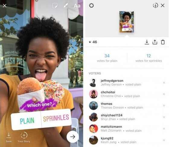 Agora é possível criar enquetes no Instagram Stories