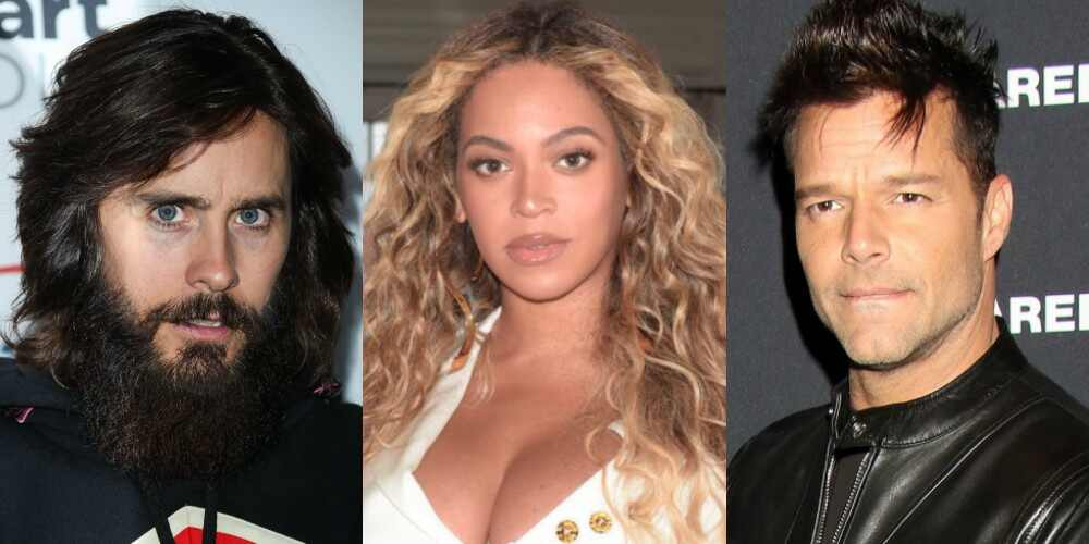 Jared Leto, Beyonce, Ricky Martin