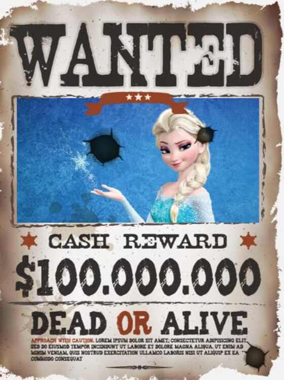 Princesa Elsa pedido de prisão