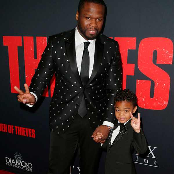 50 Cent, Sire Jackson, Den of Thieves Premiere, 2018