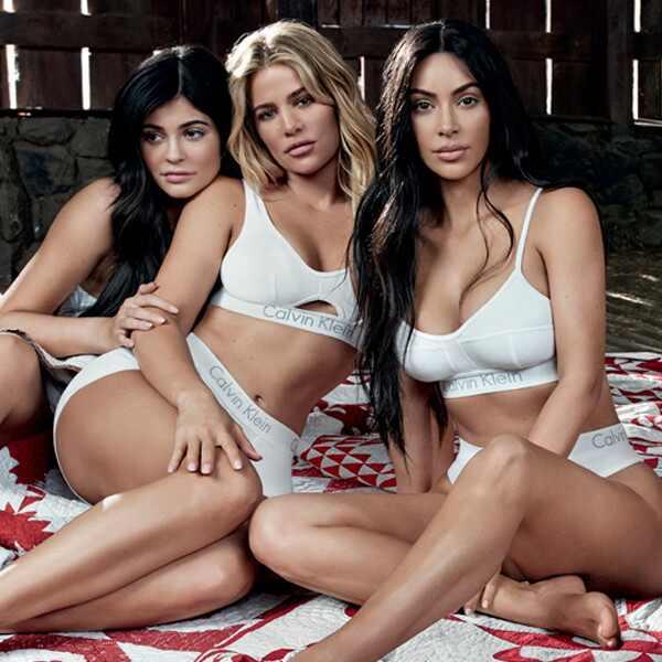 Kylie Jenner esconde a barriga em nova campanha com as irmãs