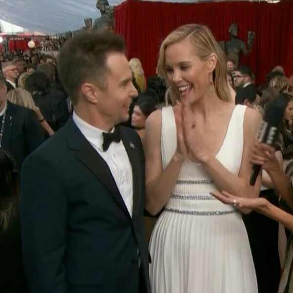 Sam Rockwell, Leslie Bibb, 2018 SAG Awards, E! News