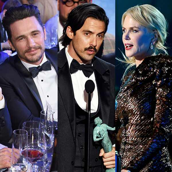 James Franco, Milo Ventimiglia, Nicole Kidman, 2018 SAG Awards