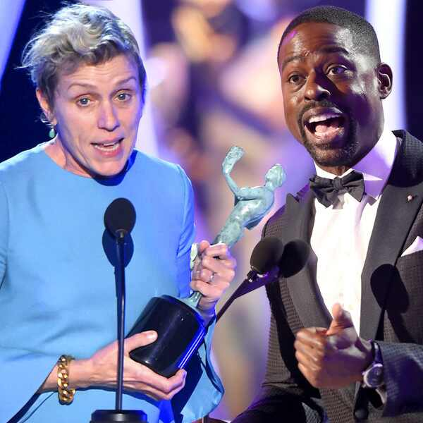 Frances McDormand, Sterling K. Brown, Winners, SAG Awards, 2018