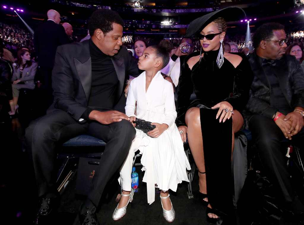 Jay-Z, Blue Ivy and Beyonce