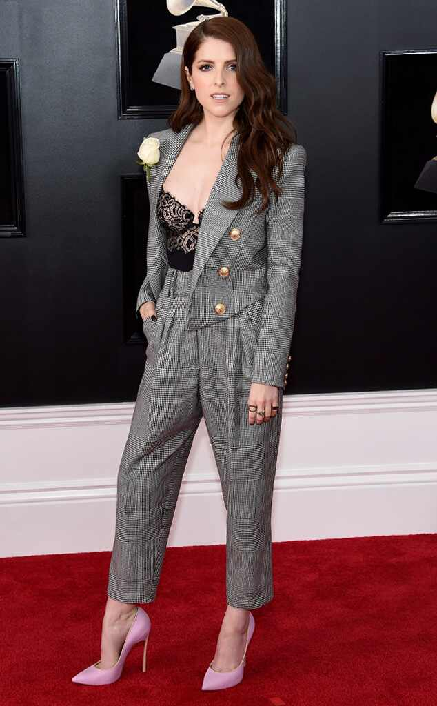 Anna Kendrick, 2018 Grammy Awards, Red Carpet Fashions