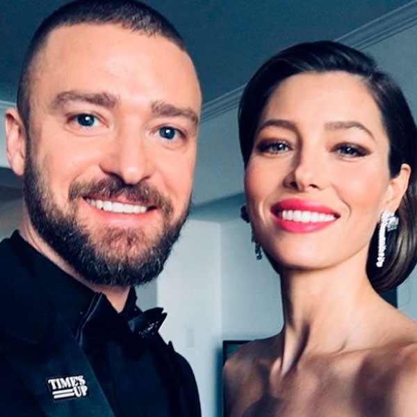 Justin Timberlake, Jessica Biel, 2018 Golden Globes