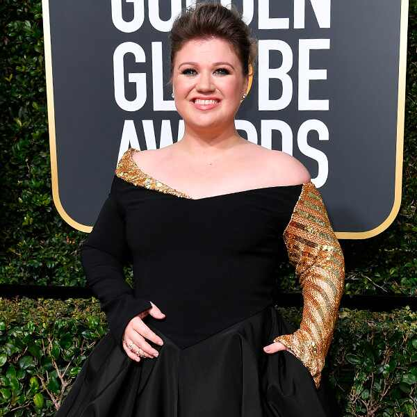 Kelly Clarkson, 2018 Golden Globes, Red Carpet Fashions